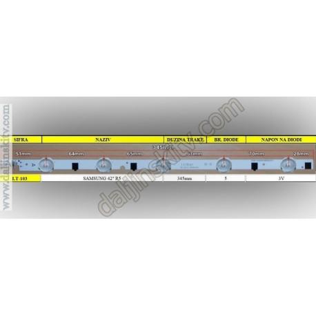 """Pozadinsko osvetljenje SAMSUNG 42"""" R5"""