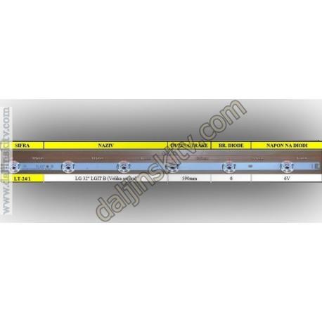 """Pozadinsko osvetljenje za LG 32"""" LGIT B (Velika sociva)"""