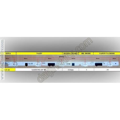 """Pozadinsko osvetljenje SAMSUNG 40"""" R5"""